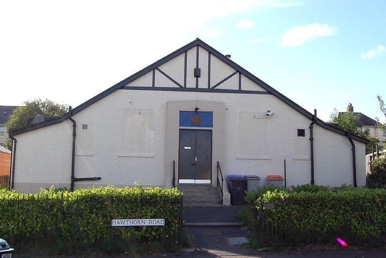 The Masonic Hall<br/>Hawthorn Road<br/>Busby<br/>Glasgow <br/>Regular Meetings <br/>1st and 3rd Thursdays<br/>September ~ May